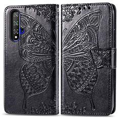 Leather Case Stands Flip Cover T19 Holder for Huawei Nova 5T Black