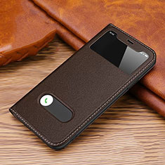 Leather Case Stands Flip Cover T20 Holder for Apple iPhone 11 Pro Max Brown