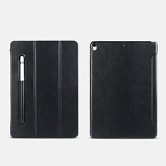 Leather Case Stands Flip Cover with Apple Pencil Holder for Apple iPad Pro 10.5 Black