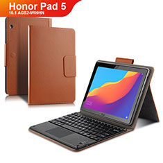 Leather Case Stands Flip Cover with Keyboard for Huawei Honor Pad 5 10.1 AGS2-W09HN AGS2-AL00HN Brown