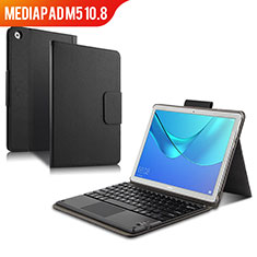 Leather Case Stands Flip Cover with Keyboard for Huawei MediaPad M5 10.8 Black