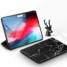 Leather Case Stands Flip Holder Cover for Apple iPad Pro 11 (2018) Black