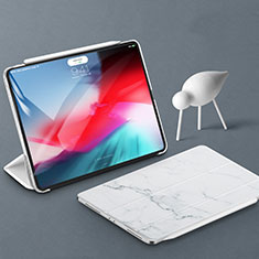 Leather Case Stands Flip Holder Cover for Apple iPad Pro 11 (2018) White