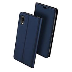 Leather Case Stands Flip Holder Cover for Huawei Enjoy 9 Blue