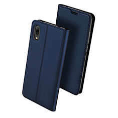 Leather Case Stands Flip Holder Cover for Huawei Y7 Pro (2019) Blue