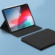 Leather Case Stands Flip Holder Cover L01 for Apple iPad Pro 11 (2018) Black