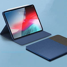 Leather Case Stands Flip Holder Cover L01 for Apple iPad Pro 11 (2018) Blue