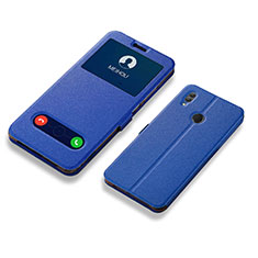 Leather Case Stands Flip Holder Cover L01 for Huawei Honor 10 Lite Blue