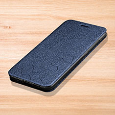 Leather Case Stands Flip Holder Cover L01 for Xiaomi Redmi Note 7 Pro Blue