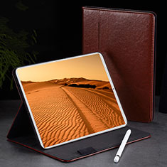 Leather Case Stands Flip Holder Cover L02 for Apple iPad Pro 11 (2018) Brown