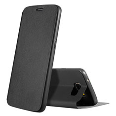 Leather Case Stands Flip Holder Cover S01 for Samsung Galaxy S7 G930F G930FD Black