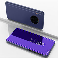 Leather Case Stands Flip Mirror Cover Holder for Huawei Mate 30 Pro 5G Purple