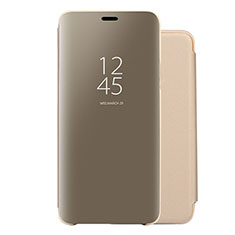 Leather Case Stands Flip Mirror Cover Holder for Huawei Nova 5 Pro Gold