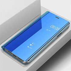 Leather Case Stands Flip Mirror Cover Holder for OnePlus 7 Pro Blue