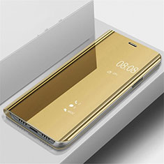 Leather Case Stands Flip Mirror Cover Holder for OnePlus 7 Pro Gold