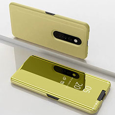 Leather Case Stands Flip Mirror Cover Holder for Xiaomi Redmi K20 Pro Gold