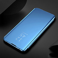 Leather Case Stands Flip Mirror Cover Holder for Xiaomi Redmi Note 8 Blue