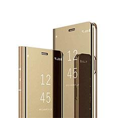 Leather Case Stands Flip Mirror Cover Holder L02 for Vivo V20 Gold