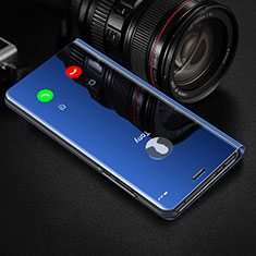 Leather Case Stands Flip Mirror Cover Holder M01 for Huawei Honor 20 Pro Blue