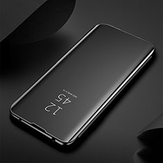 Leather Case Stands Flip Mirror Cover Holder M03 for Samsung Galaxy S20 Ultra 5G Black