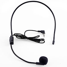 Luxury 3.5mm Mini Handheld Microphone Singing Recording K03 Black