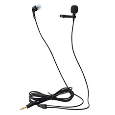 Luxury 3.5mm Mini Handheld Microphone Singing Recording K05 for Alcatel 7 Black