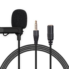 Luxury 3.5mm Mini Handheld Microphone Singing Recording K06 for Alcatel 7 Black