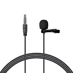 Luxury 3.5mm Mini Handheld Microphone Singing Recording K08 for Samsung Galaxy Book Flex 13.3 NP930QCG Black