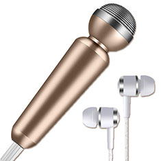 Luxury 3.5mm Mini Handheld Microphone Singing Recording M02 for Apple MacBook Pro 13 2020 Gold