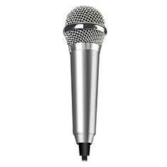 Luxury 3.5mm Mini Handheld Microphone Singing Recording M04 Silver