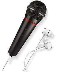 Luxury 3.5mm Mini Handheld Microphone Singing Recording M05 Black