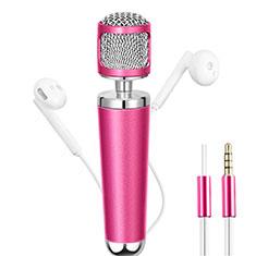 Luxury 3.5mm Mini Handheld Microphone Singing Recording for Apple MacBook Pro 13 2020 Pink