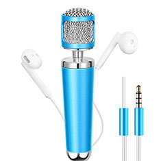 Luxury 3.5mm Mini Handheld Microphone Singing Recording for Apple MacBook Pro 13 2020 Sky Blue