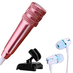 Luxury 3.5mm Mini Handheld Microphone Singing Recording with Stand M08 for Apple MacBook Pro 13 2020 Rose Gold