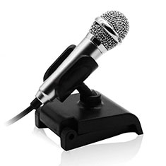 Luxury 3.5mm Mini Handheld Microphone Singing Recording with Stand for Apple MacBook Pro 13 2020 Silver