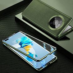 Luxury Aluminum Metal Cover Case 360 Degrees K01 for Huawei Mate 40 Pro Orange