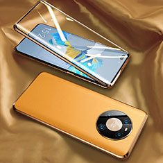 Luxury Aluminum Metal Cover Case 360 Degrees K02 for Huawei Mate 40 Pro Yellow