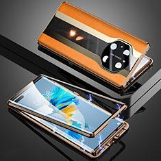 Luxury Aluminum Metal Cover Case 360 Degrees K03 for Huawei Mate 40 Pro Orange