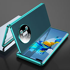 Luxury Aluminum Metal Cover Case 360 Degrees K04 for Huawei Mate 40 Pro Cyan