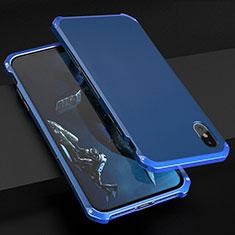 Luxury Aluminum Metal Cover Case for Apple iPhone X Blue