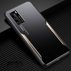 Luxury Aluminum Metal Cover Case for Huawei P40 Gold