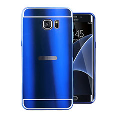 Luxury Aluminum Metal Cover Case for Samsung Galaxy S7 Edge G935F Blue