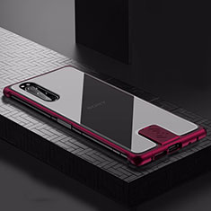 Luxury Aluminum Metal Cover Case for Sony Xperia 5 Red Wine