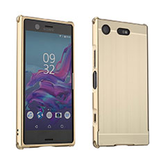 Luxury Aluminum Metal Cover Case for Sony Xperia XZ1 Compact Gold