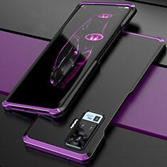 Luxury Aluminum Metal Cover Case for Vivo X51 5G Purple