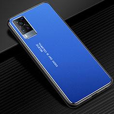 Luxury Aluminum Metal Cover Case for Vivo X60 5G Blue