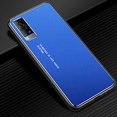 Luxury Aluminum Metal Cover Case for Vivo X60 Pro 5G Blue