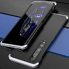 Luxury Aluminum Metal Cover Case for Xiaomi Mi 10 Pro Silver and Black