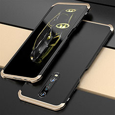Luxury Aluminum Metal Cover Case for Xiaomi Redmi K30 5G Gold and Black
