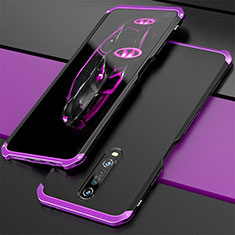 Luxury Aluminum Metal Cover Case for Xiaomi Redmi K30 5G Purple